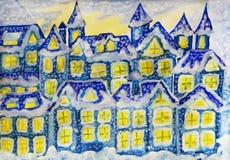 Dreamstown dark blue in winter stock photography
