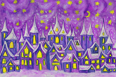 Dreamstown, painting Royalty Free Stock Image