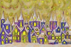 Dreamstown som målar Royaltyfri Fotografi