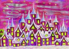 Dreamstown violet Arkivfoto
