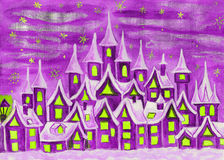 Dreamstown violet Royalty Free Stock Images