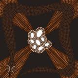 Dreamtime - serpente Imagem de Stock