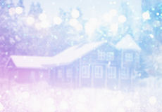 Dreamy and abstract magical winter landscape photo Stock Photography