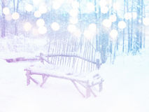 Dreamy and abstract magical winter landscape photo Royalty Free Stock Photo