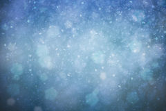 Dreamy abstract snowfall Christmas and New Year illustration Royalty Free Stock Photos