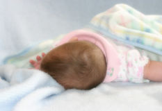 Dreamy Baby. Baby sleeping, with dreamy effect Stock Photos