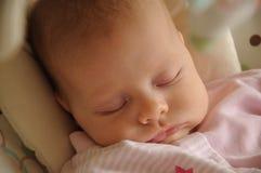 Baby girl napping Stock Photos