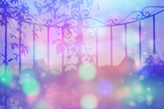 Dreamy background with beautiful, old, stylich, garden gate Stock Photography
