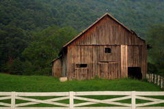 Dreamy Barn. An old barn taken at twilight in slight fog giving it a dreamy feel Royalty Free Stock Photography