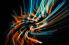 Dreamy blazing colorful lines Stock Image