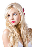 Dreamy blond woman  Royalty Free Stock Image
