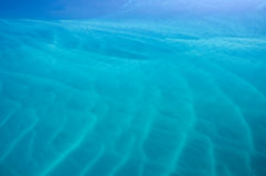 Dreamy blue sea. Beautiful turquoise ripples and wave patterns in the ocean Royalty Free Stock Photography