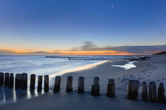 Dreamy blurred glowing sunset seascape Royalty Free Stock Photo