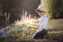 Dreamy boy Royalty Free Stock Images