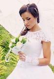 Dreamy bride,tinted Stock Photo