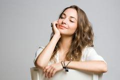 Dreamy brunette beauty. Stock Image