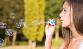Dreamy bubble girl. Royalty Free Stock Images