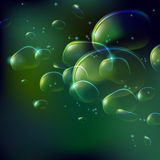 Dreamy Bubbles. Vector dreamy bubbles for background usage Stock Photos