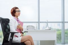 Dreamy business lady Stock Photos