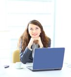 Dreamy business woman Stock Photo