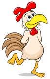Dreamy chicken strolling along Stock Photo