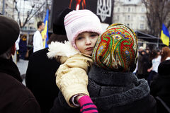 Dreamy child. Photo taken in Lviv at the prospect of freedom Royalty Free Stock Image