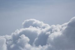 Dreamy clouds. Flying with the clouds Royalty Free Stock Photo