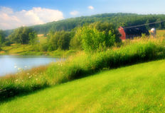 Dreamy Countryside. Dreamy effect to a beautiful countryside landscape Stock Photography