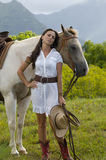 Dreamy cowgirl Royalty Free Stock Image