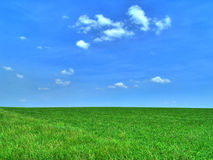 Dreamy Day. A picture of a spring field in the USA Stock Image