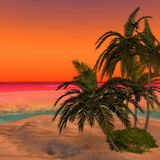 Dreamy Desert Island 2 Stock Photos