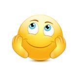 Dreamy emoticon Stock Images