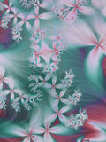 Dreamy floral fractal. Background in whimsical colors Stock Photos