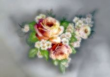 Dreamy flower ornament. Stock Images
