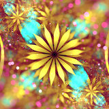 Dreamy Fractal Flower Royalty Free Stock Photos