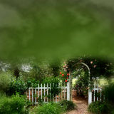 Dreamy Garden Illustration Stock Photo