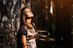 Dreamy girl royalty free stock photography