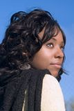 Dreamy girl. Portrait of dreamy African-American girl Royalty Free Stock Photo