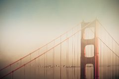 Dreamy Golden Gate Stock Images