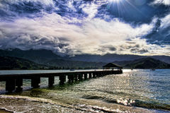 Dreamy Hawaii at Hanalei Bay. Stock Image