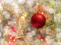 Dreamy image of a Christmas bauble Stock Images