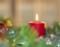 Dreamy image of a Christmas candle Stock Photo