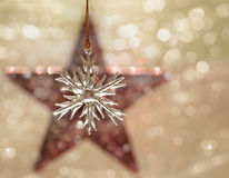 Dreamy image of a Christmas glass ornament Royalty Free Stock Photography