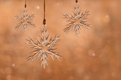 Dreamy image of glass Christmas snowflake ornament Royalty Free Stock Photos