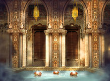 Dreamy India bath Stock Photography