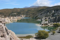 Dreamy Lakes. The Blue lakes of central Otago's goldfield's, St Bathens, New Zealand Stock Photography