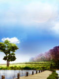 Dreamy Landscape royalty free illustration