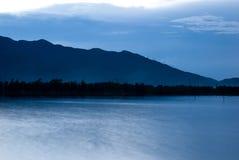 Dreamy landscape, Lang Co Bay. Dreamy landscape Lang Co Bay, Vietnam, at dusk Royalty Free Stock Photos