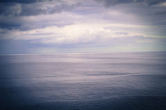 Dreamy landscape with sky and the sea Stock Photography