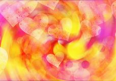 Dreamy light hearts backgrounds. Love symbol Royalty Free Stock Photography